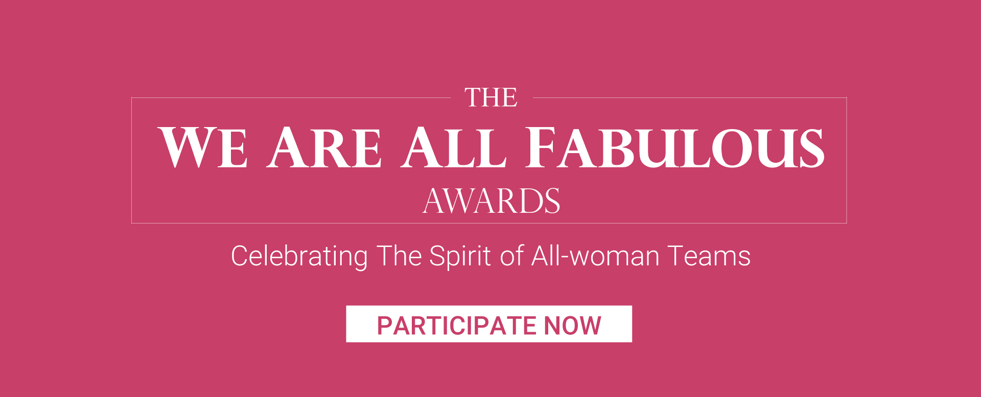 Enamor We Are All Fabulous Award